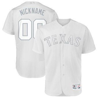 Texas Rangers Majestic 2019 Players' Weekend Flex Base Authentic Roster Custom Jersey White