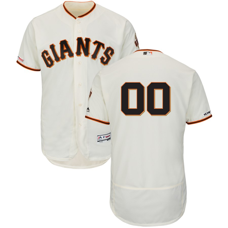 San Francisco Giants Majestic Home Flex Base Authentic Collection Custom Jersey Cream