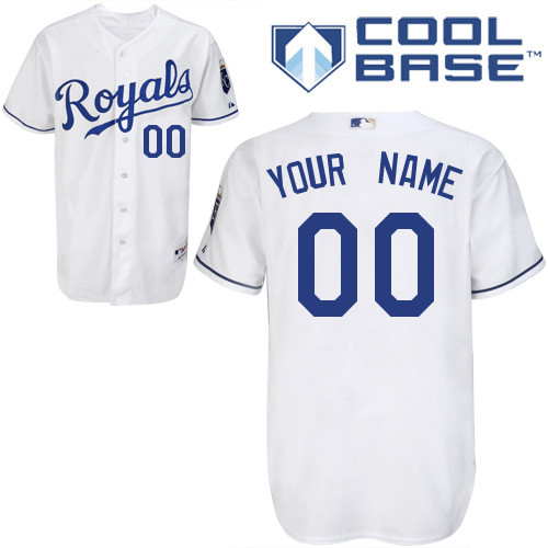 Royals Personalized Authentic White Cool Base MLB Jersey (S-3XL)