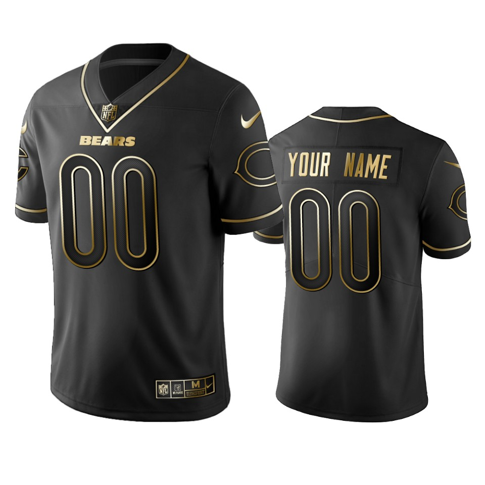 Nike Bears Custom Black Golden Limited Edition Stitched NFL Jersey