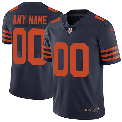 Nike Chicago Bears Customized Navy Blue Alternate Stitched Vapor Untouchable Limited Men's NFL Jersey