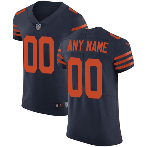 Nike Chicago Bears Customized Navy Blue Alternate Stitched Vapor Untouchable Elite Men's NFL Jersey