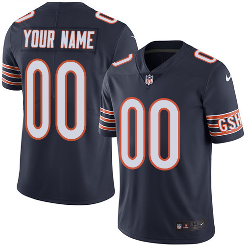 Nike Chicago Bears Customized Navy Blue Team Color Stitched Vapor Untouchable Limited Men's NFL Jersey