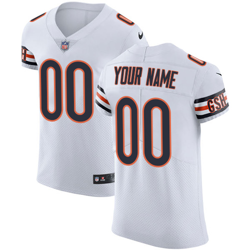 Nike Chicago Bears Customized White Stitched Vapor Untouchable Elite Men's NFL Jersey