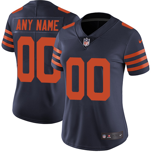 Nike Chicago Bears Customized Navy Blue Alternate Stitched Vapor Untouchable Limited Women's NFL Jersey