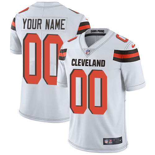 Nike Cleveland Browns Customized White Stitched Vapor Untouchable Limited Men's NFL Jersey