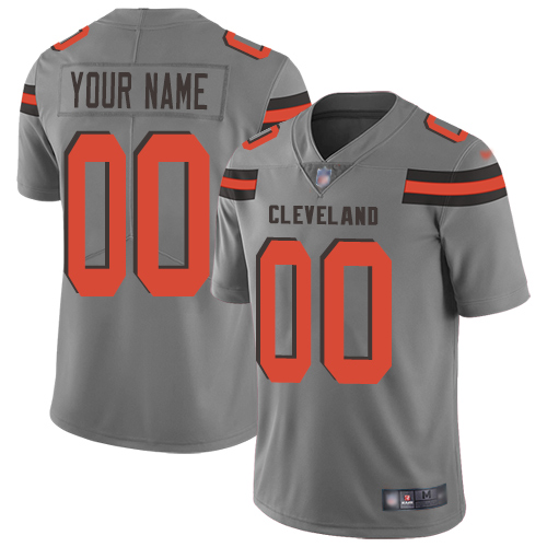 Nike Cleveland Browns Customized Gray Men's Stitched NFL Limited Inverted Legend Jersey