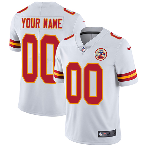 Nike Kansas City Chiefs Customized White Stitched Vapor Untouchable Limited Youth NFL Jersey
