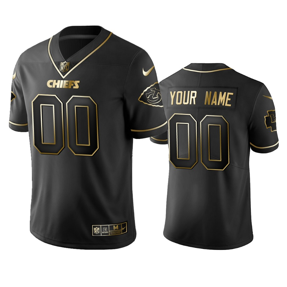Nike Chiefs Custom_chiefs Black Golden Limited Edition Stitched NFL Jersey