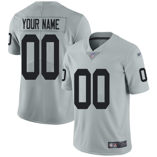 Nike Las Vegas Raiders Customized Silver Men's Stitched NFL Limited Inverted Legend Jersey