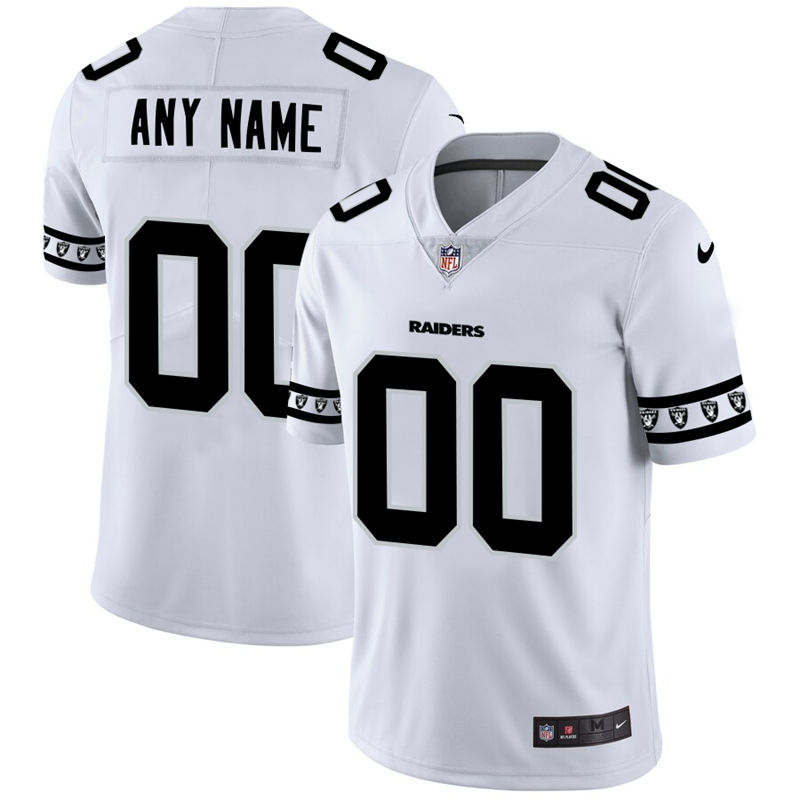 Las Vegas Raiders Custom Nike White Team Logo Vapor Limited NFL Jersey