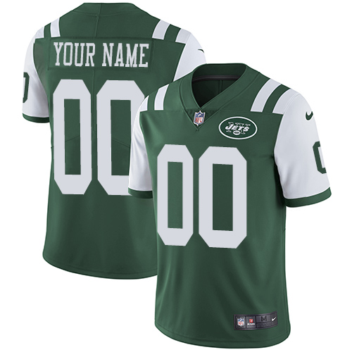 Nike New York Jets Customized Green Team Color Stitched Vapor Untouchable Limited Men's NFL Jersey