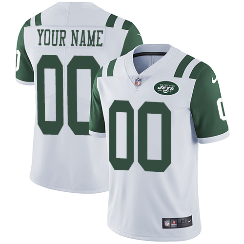 Nike New York Jets Customized White Stitched Vapor Untouchable Limited Men's NFL Jersey
