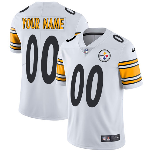Nike Pittsburgh Steelers Customized White Stitched Vapor Untouchable Limited Youth NFL Jersey