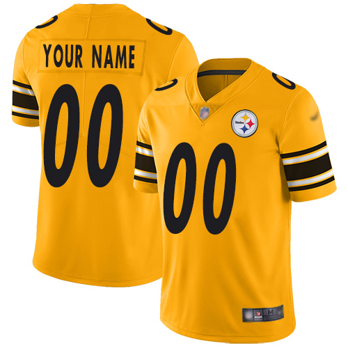 Nike Pittsburgh Steelers Customized Gold Men's Stitched NFL Limited Inverted Legend Jersey