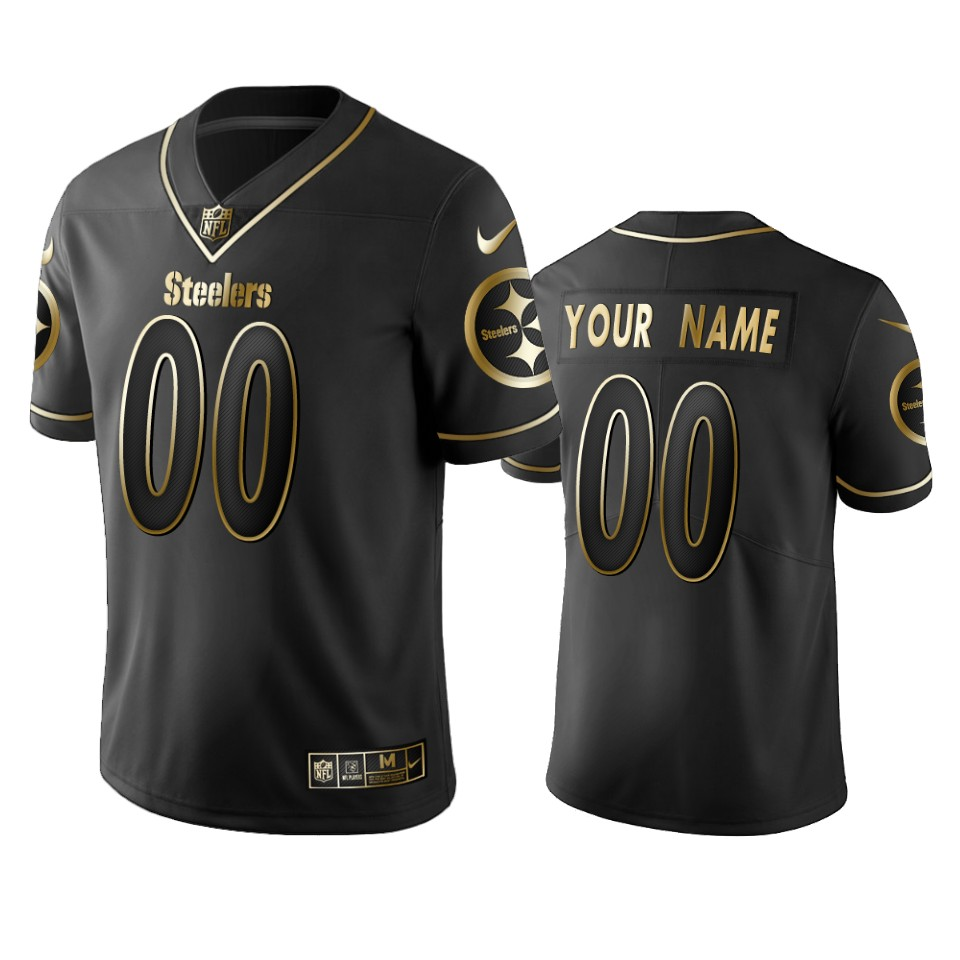 Nike Steelers Custom Black Golden Limited Edition Stitched NFL Jersey