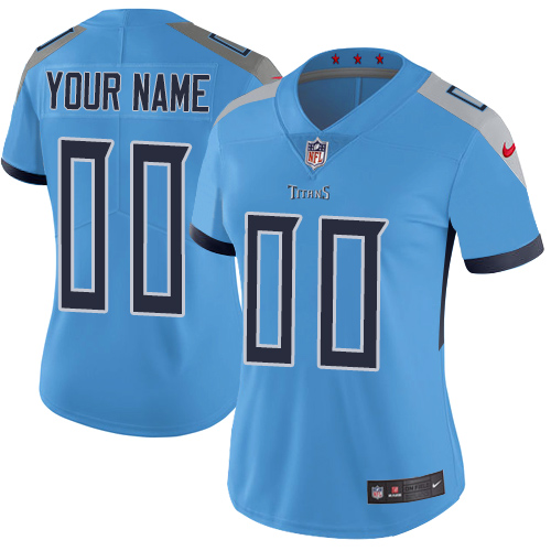 Nike Tennessee Titans Customized Light Blue Team Color Stitched Vapor Untouchable Limited Women's NFL Jersey
