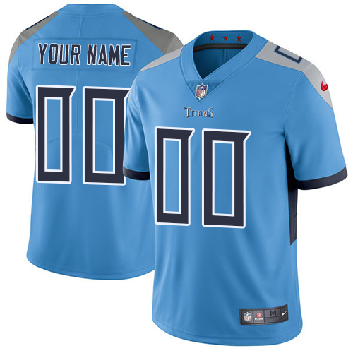 Nike Tennessee Titans Customized Light Blue Team Color Stitched Vapor Untouchable Limited Youth NFL Jersey