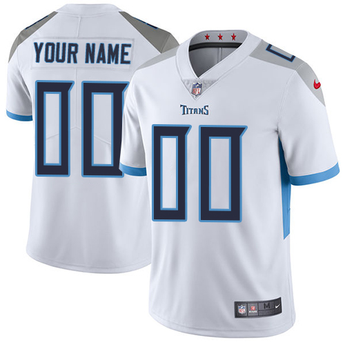 Nike Tennessee Titans Customized White Stitched Vapor Untouchable Limited Youth NFL Jersey