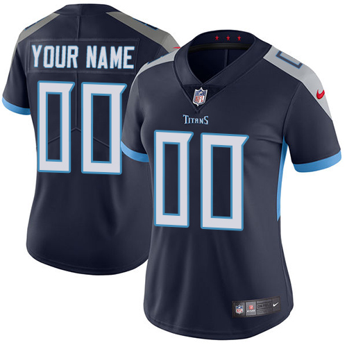 Nike Tennessee Titans Customized Navy Blue Alternate Stitched Vapor Untouchable Limited Women's NFL Jersey