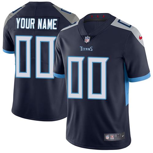 Nike Tennessee Titans Customized Navy Blue Alternate Stitched Vapor Untouchable Limited Men's NFL Jersey