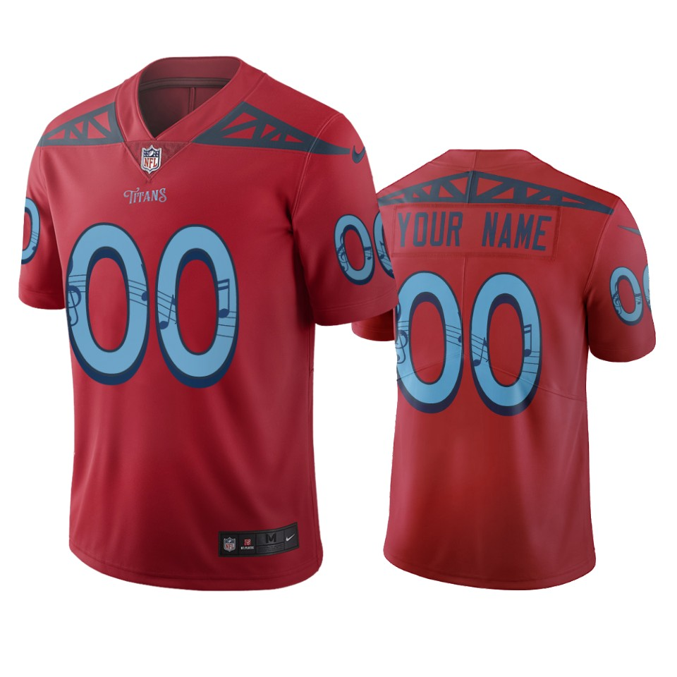 Tennessee Titans Custom Red Vapor Limited City Edition NFL Jersey