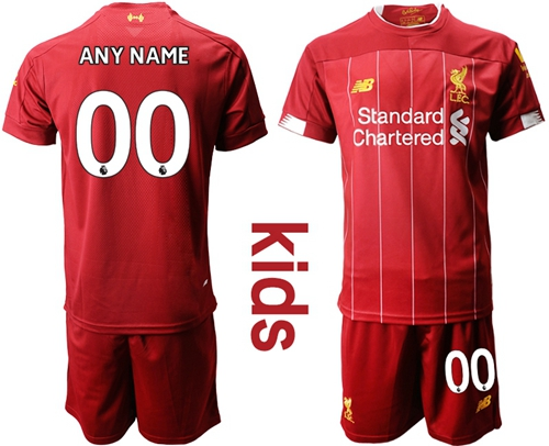Liverpool Personalized Red Home Kid Soccer Club Jersey