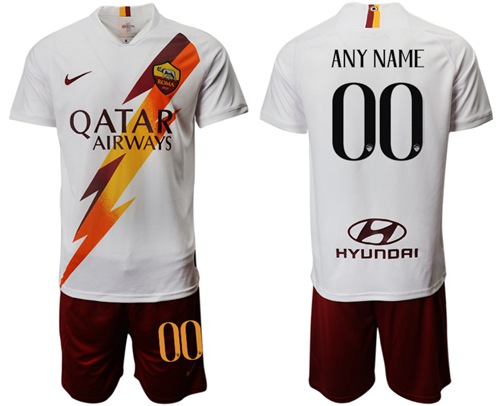 Roma Personalized Away Soccer Club Jersey
