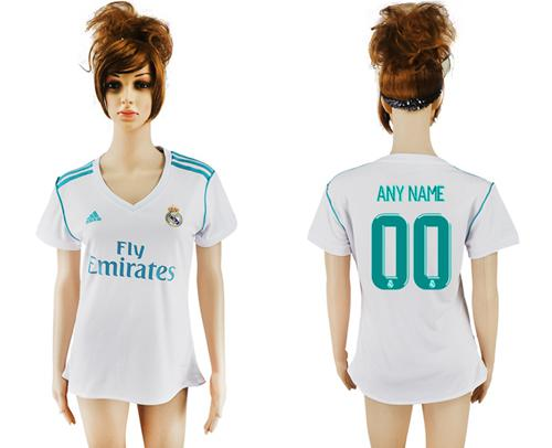 Women's Real Madrid Personalized Home Soccer Club Jersey