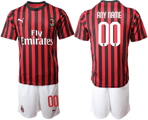 AC Milan Personalized Home Soccer Club Jersey