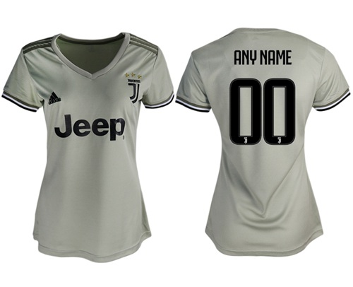 Women's Juventus Personalized Away Soccer Club Jersey