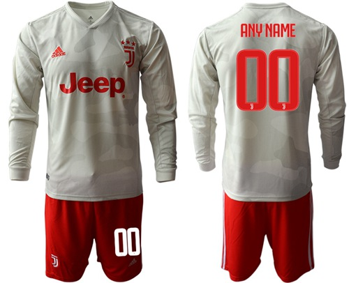 Juventus Personalized Away Long Sleeves Soccer Club Jersey