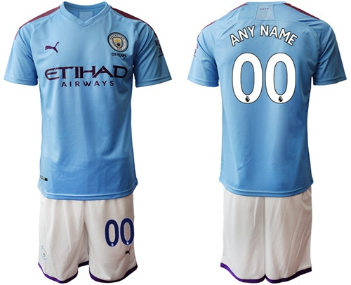 Manchester City Personalized Home Soccer Club Jersey