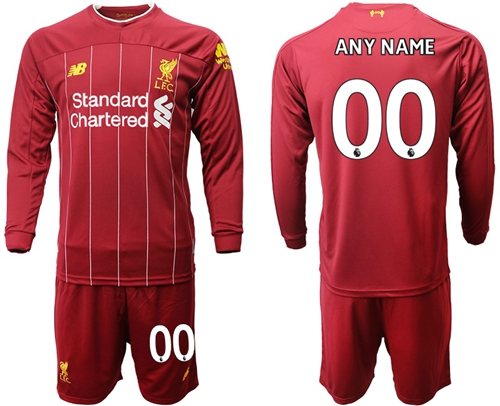 Liverpool Personalized Home Long Sleeves Soccer Club Jersey