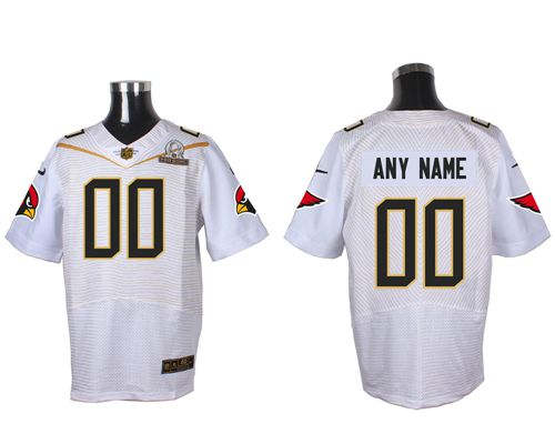 Nike Arizona Cardinals Customized White 2016 Pro Bowl Men's Stitched NFL Elite Jersey
