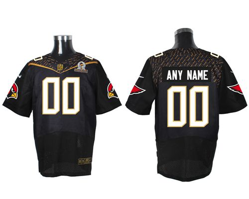 Nike Arizona Cardinals Customized Black 2016 Pro Bowl Men's Stitched NFL Elite Jersey