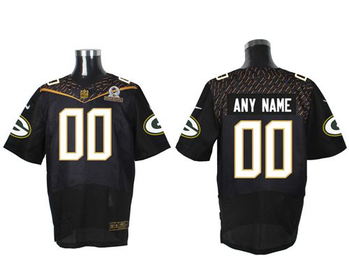 Nike Green Bay Packers Customized Black 2016 Pro Bowl Men's Stitched NFL Elite Jersey