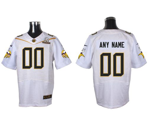 Nike Minnesota Vikings Customized White 2016 Pro Bowl Men's Stitched NFL Elite Jersey