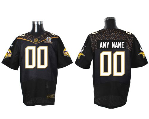 Nike Minnesota Vikings Customized Black 2016 Pro Bowl Men's Stitched NFL Elite Jersey