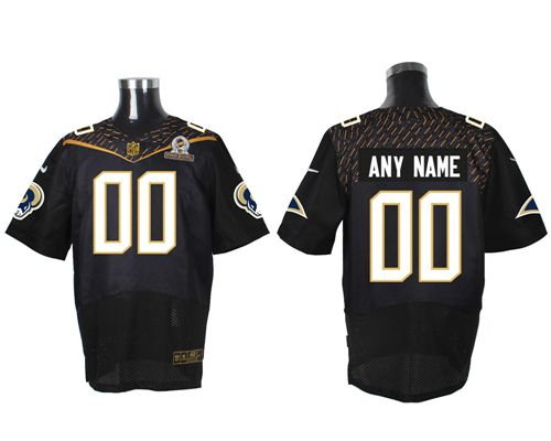 Nike St. Louis Rams Customized Black 2016 Pro Bowl Men's Stitched NFL Elite Jersey