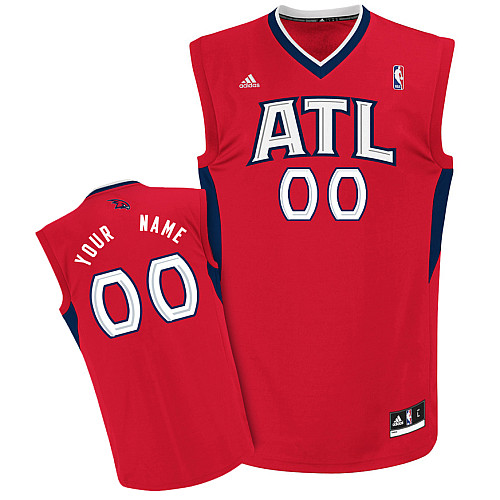 Hawks Personalized Authentic Red NBA Jersey (S-3XL)