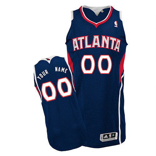 Hawks Personalized Authentic Blue NBA Jersey (S-3XL)