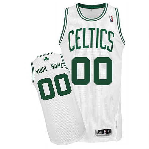 Celtics Personalized Authentic White NBA Jersey (S-3XL)