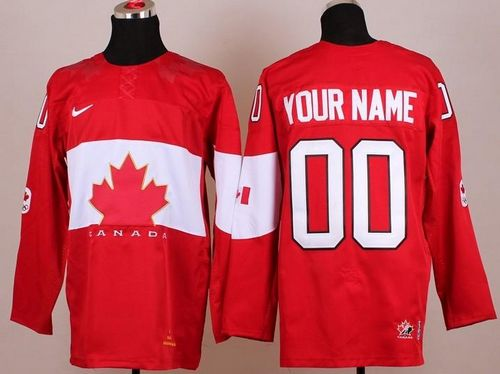 Team Canada 2014 Olympic Red Personalized Authentic NHL Jersey (S-3XL)