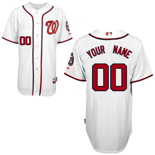 Nationals Authentic White 2011 Cool Base MLB Jersey (S-3XL)