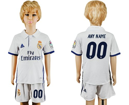 Real Madrid Personalized Home Kid Soccer Club Jersey