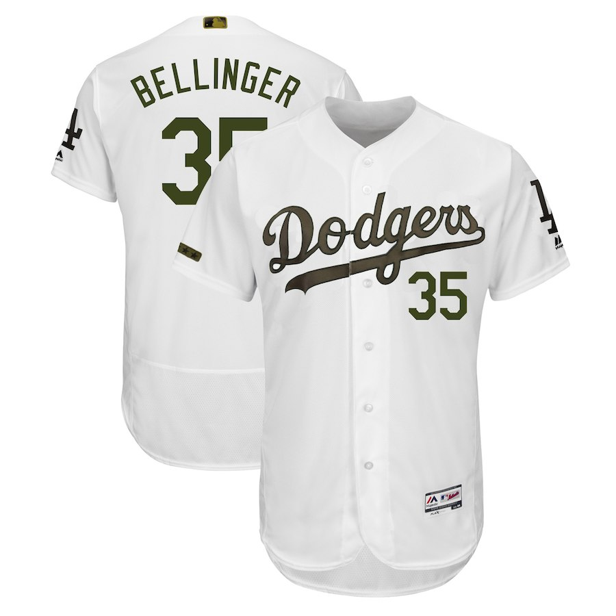 Men's Los Angeles Dodgers Cody Bellinger White 2018 Memorial Day Authentic Collection Flex Base Player Jersey