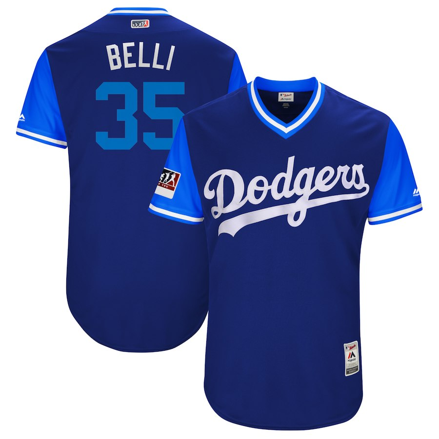 "Men's Los Angeles Dodgers Cody Bellinger ""Belli"" Royal/Light Blue 2018 Players' Weekend Jersey"