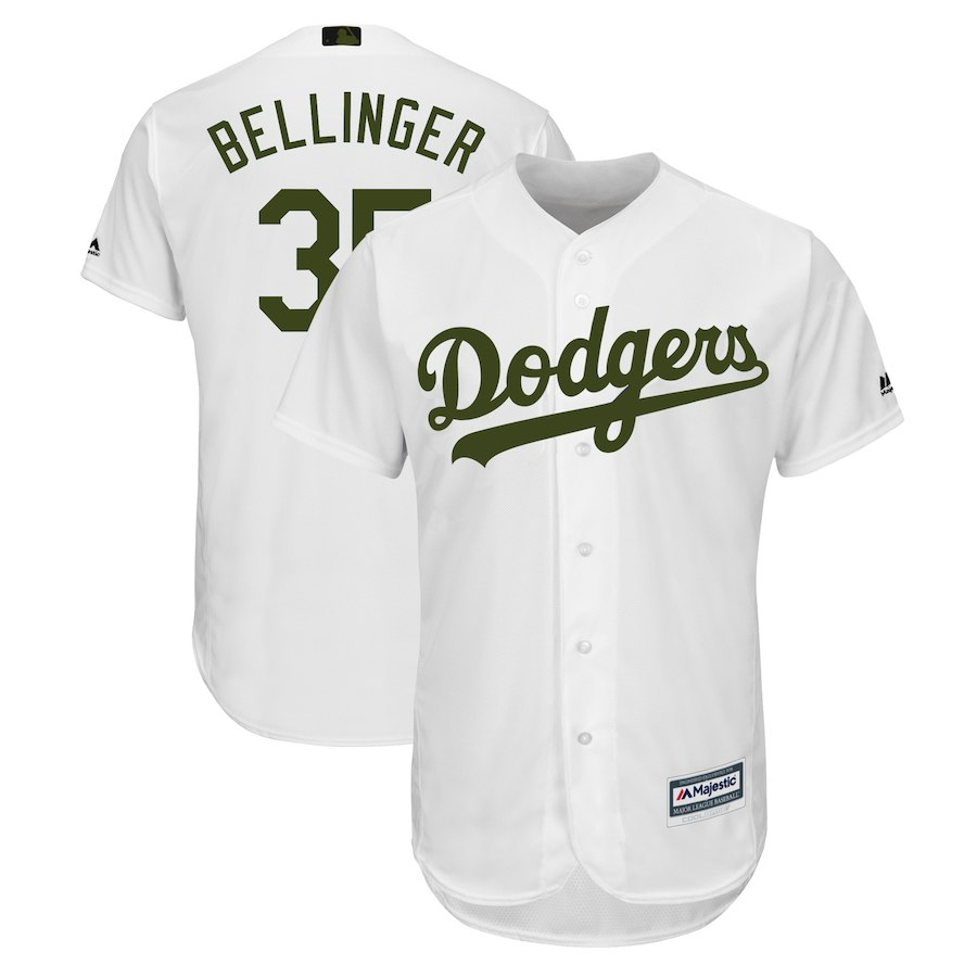 Men's Los Angeles Dodgers Cody Bellinger White 2018 Memorial Day Cool Base Player Jersey