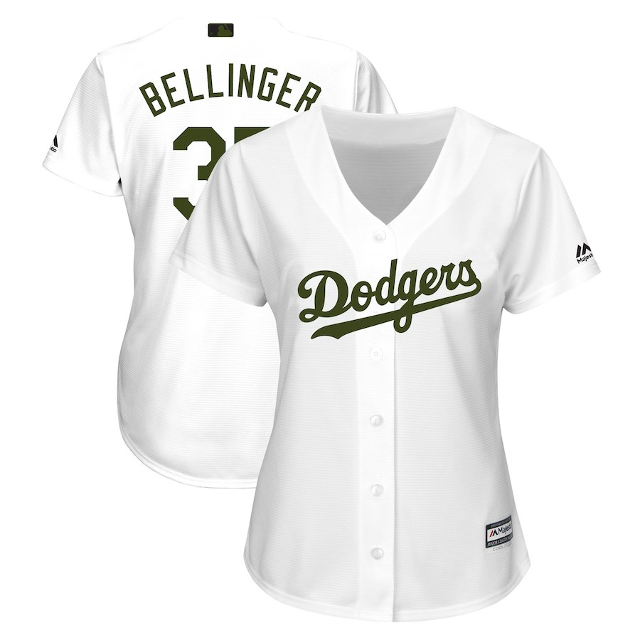 Women's Los Angeles Dodgers Cody Bellinger White 2018 Memorial Day Cool Base Player Jersey